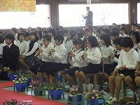 在校生代表で式に参加した5年生