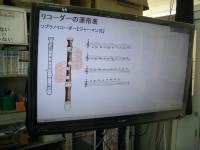 ソプラノリコーダーの運指表・・・音符の上にマウスを置くと押さえ方が示されます。
