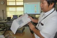 タッチした紙の画像が表示され、書き込みが行えます。
