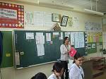 伊志嶺先生の授業のまとめの様子:ライオンズクエストプログラムで習得した技法で、生徒を引きつけるすばらしいまとめ方でした