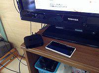 iPad mini を XPERIA 経由で AppleTVに無線接続しています。