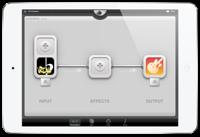 『Audiobus』 でiReal Pro と GarageBand を接続した画面。