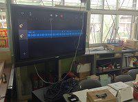 職員室の地デジテレビに AirPlay ミラーリング。
