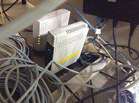 NTTの光回線関連の機器。