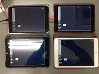 教師のiPad mini から資料の送付を行った児童生徒機。